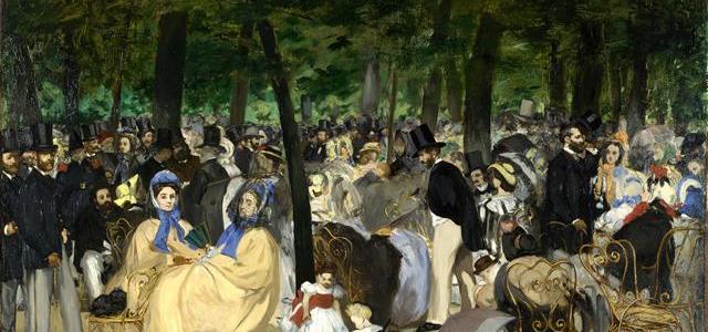 Música nas Tulherias, Édouard Manet