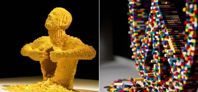 Esculturas LEGO em exposição na Oca