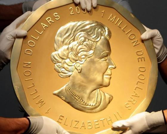 Maior moeda de ouro do mundo é roubada em Berlim