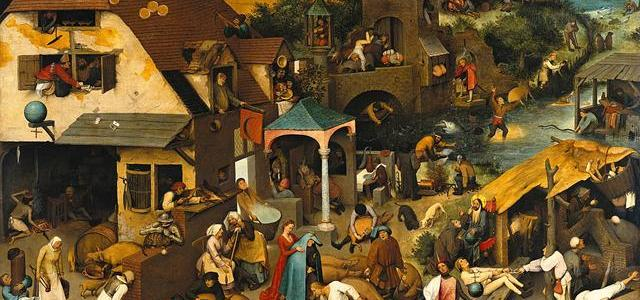 Provérbios Flamengos, Pieter Bruegel, o Velho