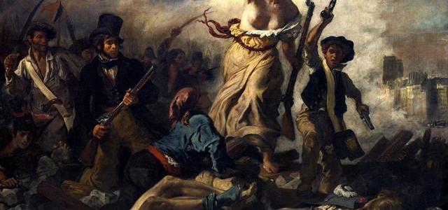 A Liberdade guiando o povo – Eugène Delacroix