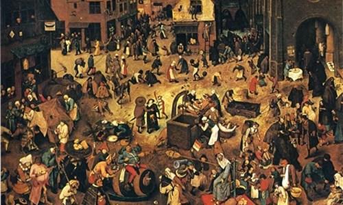 A Luta ou Batalha entre Carnaval e Quaresma, Pieter Bruegel, o Velho