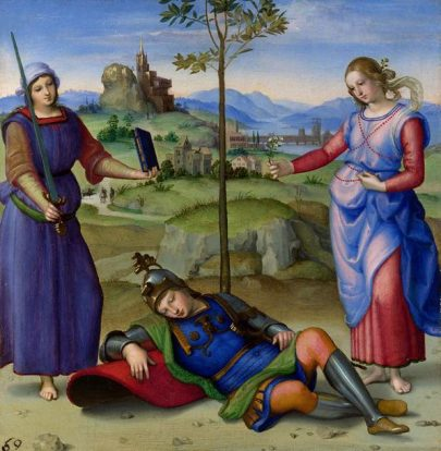A Visão de um Cavaleiro, Rafael Sanzio