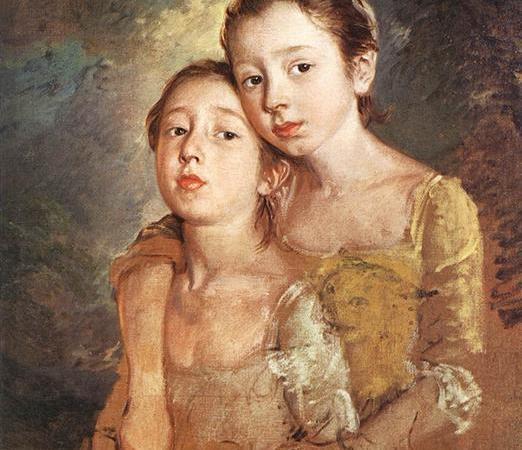 As filhas do Artista com o Gato, Thomas Gainsborough