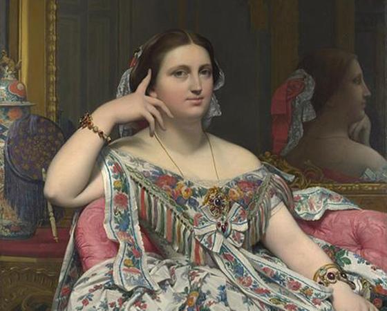 Madame Moitessier, Ingres