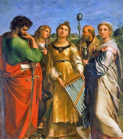 Êxtase de Santa Cecília, Rafael Sanzio