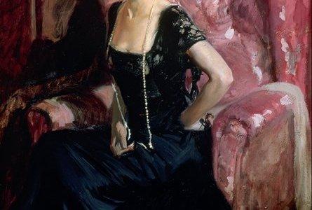 Clotilde com Vestido de Noite, Sorolla