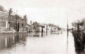 Av. Comendador Leão tomada pelas águas de 1924