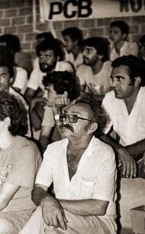 Rubens Colaço no debate entre candidatos a prefeito na Ufal em 1985