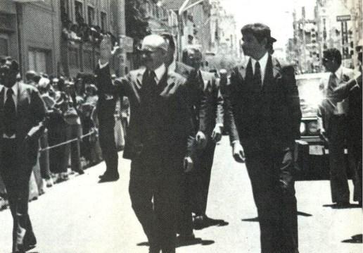 Divaldo Suruagy recebe o presidente Geisel em Alagoas em 1975