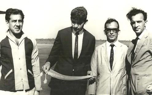Geraldo Mota (técnico), Divaldo Suruagy (Prefeito), José Cabral (Presidente da FADA) e Ardel Jucá (Presidente da Fênix)