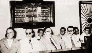 Julgamento do impeachment de Muniz Falcão pelos deputados Mário Guimarães, Aroldo Loureiro, Teotônio Vilela e Luiz Coutinho, em de 13 setembro de 1957