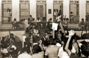 Assembleia que unificou várias associações de trabalhadores e criou o Sinteal