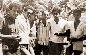 Vladimir Palmeira, Guilherme Palmeira, Carlito Lima, Betuca, Quico e Lelé Lima, no carnaval de 1966