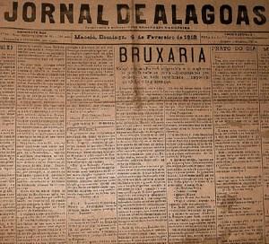 Matéria do Jornal de Alagoas, em fevereiro de 2012, acusando Euclides Malta de bruxaria