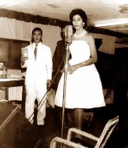Cantora Neusa Moreno e radialista Luiz de Barros
