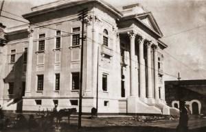 Fase final da obra, em 1926, dois anos antes da inauguração