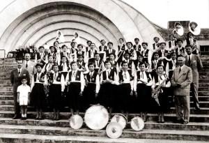Banda feminina no Estádio do Pacaembu em São Paulo. Arquivo Irailda Cruz