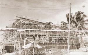 Construção da atual sede do Iate Clube Pajuçara