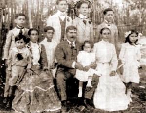 Jayme de Altavila com seus pais e irmãos