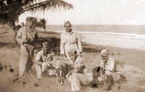 Soldados alagoanos no Pontal do Coruripe em 1942. Foto da família do soldado Augusto Zeferino de Souza