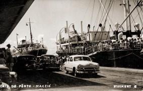 Cartão Postal do Porto de Maceió nos anos 50