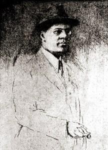 Elysio de Carvalho em uma água forte de Carlos Oswald de 1919