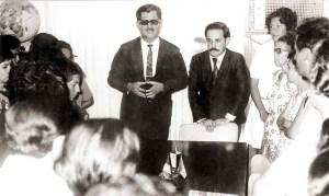 Com o secretário de Educação, José de Melo