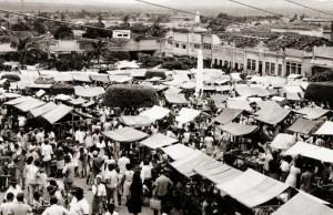 Feira na Praça da Independência em Palmeira dos Índios, 1968