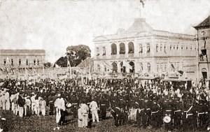 Recepção a Afonso Pena no Palácio do Governo.