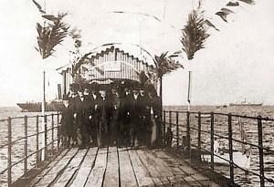 Recepção na ponte de Jaraguá