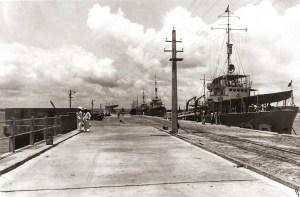 Cais do Porto, em Jaraguá, nos anos da década de 1940