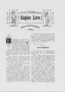 Capa do Alagoas Livre, em 1901