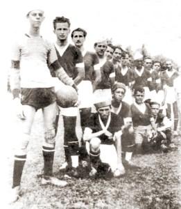 Time do Jornal de Alagoas em 1940, os três primeiros são Ednor Braga, Correa Lima e Manuel Valente
