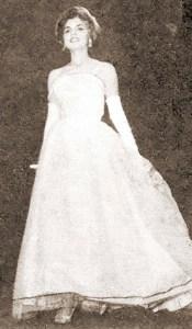 Miss Alagoas de 1961, Carmen Tereza Mascarenhas Leite, representante do Jaraguá Tênis Clube no concurso Miss Brasil