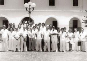 Corpo docente do CCBi em 1975