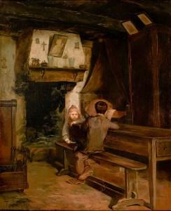 Interior com duas crianças de 1899