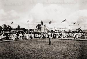 Inauguração do Parque do Centenário com a Estátua da Liberdade
