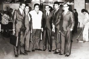 Guilherme Palmeira, Nelson Costa, José Sampaio, Theobaldo Barbosa, Divaldo Suruagy e Jorge Quintela, lideranças políticas na década de 1970