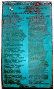 Placa de formatura da primeira turma da ECMAL em 1973. Acervo Carlos Holanda