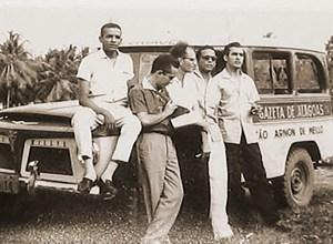 Equipe da Rádio Gazeta na famosa Rural da emissora