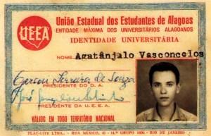 Carteira de Estudante da UEEA. Acervo Agatângelo Vasconcelos
