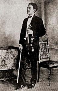 O violinista amazonense Conde José de Sabbatini, que se apresentou com Nezinho na Fênix Alagoana. Foto: revista Fon-Fon, 20 de novembro de 1909