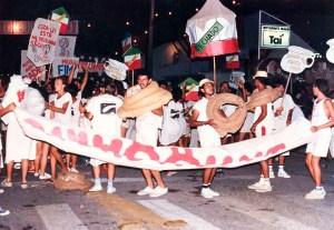 Desfile do dia 7 de fevereiro de 1986.