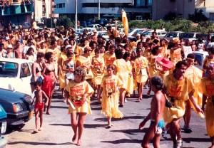 Meninos da Albânia na Pajuçara em 1987