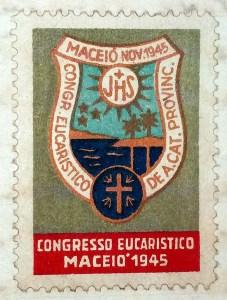 Escudo do Primeiro Congresso de Ação Católica. Fonte acervo da Cúria Metropolitana da Arquidiocese de Maceió