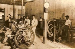 O Bacurau era impresso em Jaraguá numa tipografia como a Americana
