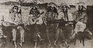 Turunas da Mauricéia. Manoel de Lima, João Miranda, Romualdo Miranda, João Frazão e Augusto Calheiros