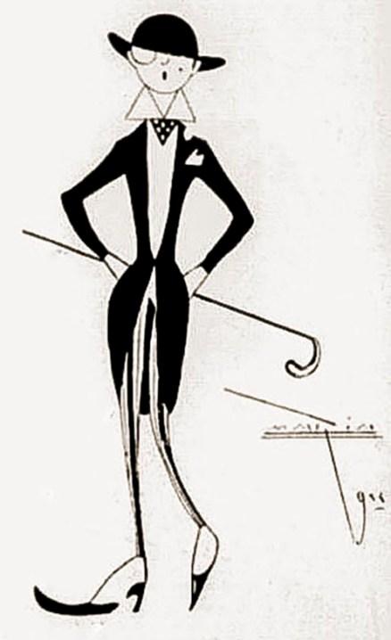 Caricatura publicada na REVISTA DA SEMANA, Ano XXIV, nº 12, 17 de março de 1923, p. 34