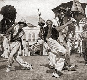 Passistas no carnaval de Recife em 1947, Foto de Pierre Verger para a revista O Cruzeiro